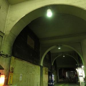 夜のJR鶴見線国道駅でノスタルジーに浸る