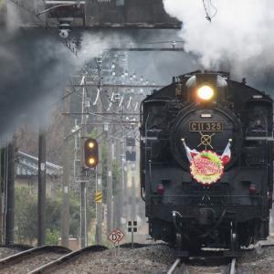 朝の鬼怒川温泉で会津鉄道&6050系&SL大樹号を激写!【天候:曇り】