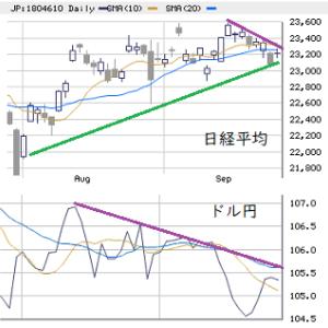 東京市場(9/25) 来週もアプローチ法に工夫を!