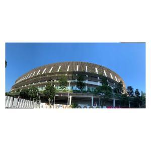 #オリンピックスタジアム に行ってきました。#新国立競技場 #千駄ヶ谷 #外苑前 #がんばれ日本 #がんばれニッポン #オリンピック #olympic #オリンピックモニュメント #日本オリンピックミュージアム