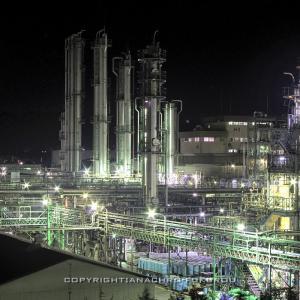 群馬県安中市・信越化学工業磯部工場の工場夜景を撮影。
