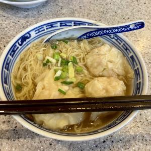 香港B級ミシュラン 沾仔記 ティム・チャイ・キーでおっきなぷりぷり海老のワンタン麺
