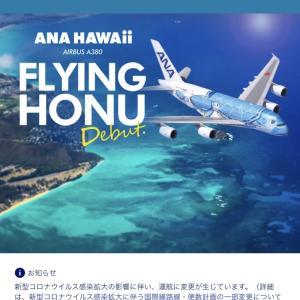 成田-ホノルル往復 ANAフライングホヌプレミアムエコノミー搭乗記