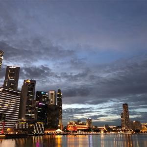 (シンガポール)ナショナルデー直前、夜景を楽しむ散歩してきた
