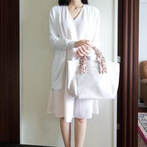 昔の服でホワイトコーデ♡メゾピアノ購入品♡
