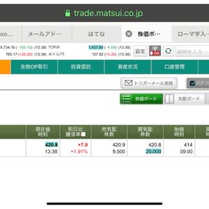 株式市場進出!!!