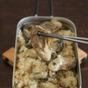 【レシピ】メスティン牡蠣の炊き込みごはん