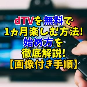 dTVを無料で1ヵ月楽しむ方法!始め方を徹底解説!【画像付き手順】