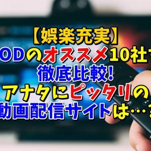 【娯楽充実】VODのオススメ10社を徹底比較!アナタにピッタリの動画配信サイトは…?
