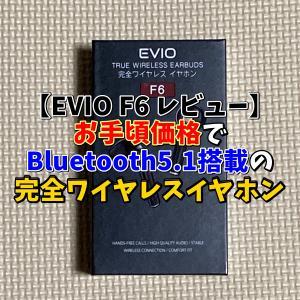 【EVIO F6 レビュー】お手頃価格でBluetooth5.1搭載の完全ワイヤレスイヤホン