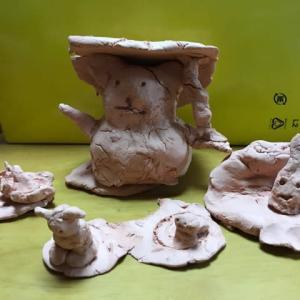 下の娘 四年生一学期 粘土作品