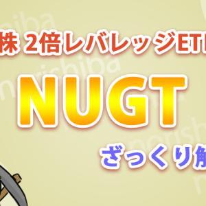 【NUGT】金鉱株2倍レバレッジETFについてザックリ解説【1ヶ月の運用報告あり】