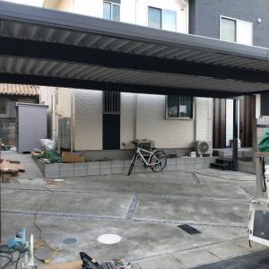一宮市の新築外構工事現場の進捗