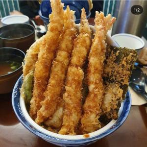 すんごいボリューム♬絶対食べたいっ!!韓国天丼( *´艸`)♡