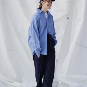 あえてシワをつけて着る服「Nautica ストライプシャツ」