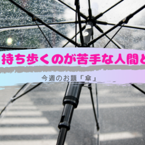 傘を持ち歩くのが苦手な人間と雨