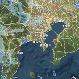 雨雲レーダーを読み切って雨に打たれず無事帰宅ラン