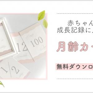 【無料ダウンロード】赤ちゃんの成長記録にかわいい月齢カードを使おう♪