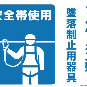 安全帯 フルハーネス型墜落制止器具の掲示用看板