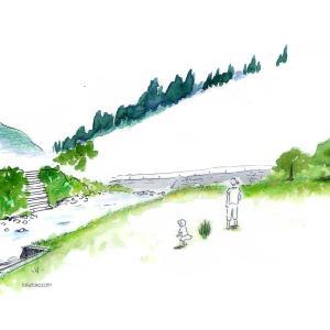 朝日町百景② 川原(朝日川河川公園)