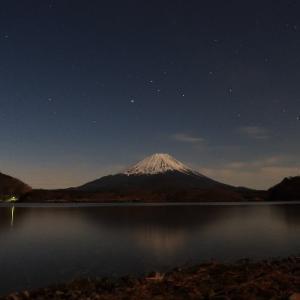 [富士山旅行⑤]夜の富士山と星空観察。そして早朝の富士山と日の出を2度拝む。