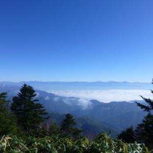 [日本百名山・恵那山]初心者連れての恵那山は、南アルプスの大パノラマで絶景でした(広河原ルート)