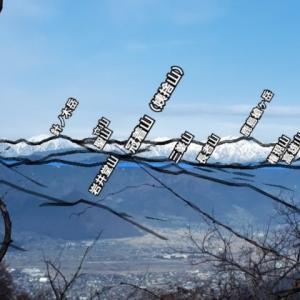 山頂からのパノラマでも、街中からの景色でも「AR山ナビ」使えば、すぐに山の名前がわかります。