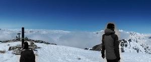 【雪山登山@4月の唐松岳】曇り後晴れ。山頂は雲海と絶景💕