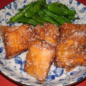 鮭の竜田揚げとふくさ寿司
