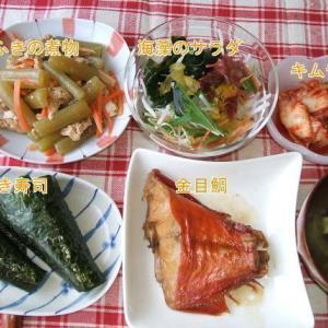 金目鯛の煮つけと手巻き寿司