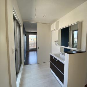 洗濯機は2階です。2階ランドリースペースの使い心地。