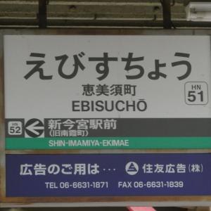 【ただの記録】移転前の阪堺電車 恵美須町駅。