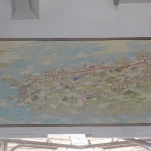 汐見橋の「観光案内図」を見てきました