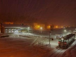 今から1年前---霧の鹿ノ谷駅---
