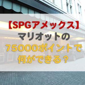 【SPGアメックス】マリオットの75000ポイントで何ができる?