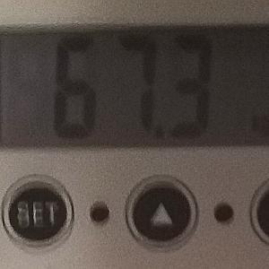 体重計の電池が付いた 67.3kg
