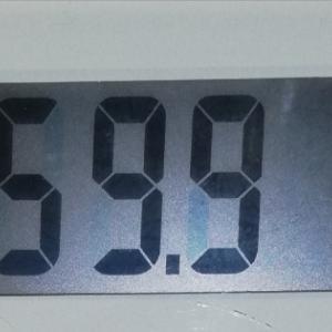 59.9kg 2年ぶりに50kg台になれました