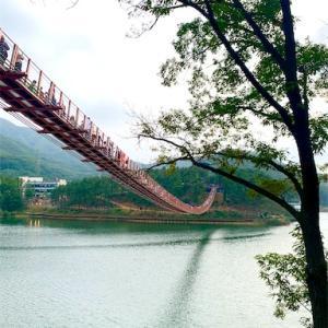 【坡州・パジュ】日帰りドライブ旅行にもおすすめ!湖にかかる揺れる吊り橋とイルミネーションで思い出作り。