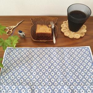 刺し子花ふきんの外枠(額縁)飾りを2本でやる方法