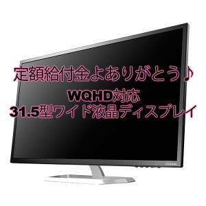 定額給付金よありがとう♪ WQHD対応31.5型ワイド液晶ディスプレイ