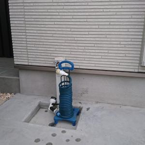 庭の水栓は見た目よりも利便性を重視しました