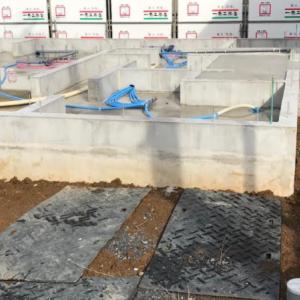 一条工務店で家を建てる(25):基礎工事終盤の水道工事完了
