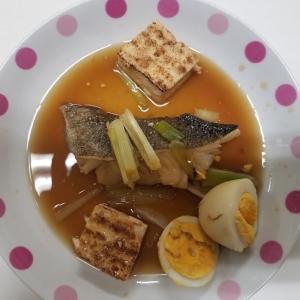 9月10日 今夜の駅めしは? 鱈(タラ)の煮つけ定食 380円