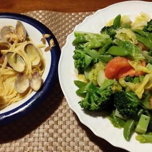 主人と夕飯を作ってみました。👫
