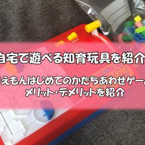 自宅で遊べる知育玩具ドラえもん はじめてのかたちあわせゲームの紹介
