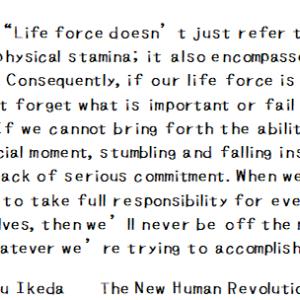 生命力というのは、ただ体力のことだけをいうのではない。