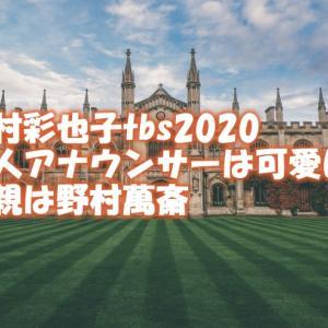 野村彩也子tbs2020新人アナウンサーは可愛い!父親は野村萬斎