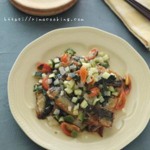 【レシピ】鰯の照り焼き夏野菜レモンソースと生徒様からの頂き物