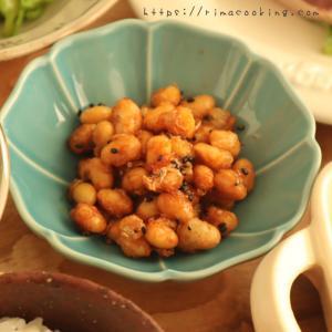 【レシピ】大豆の甘辛とランチ
