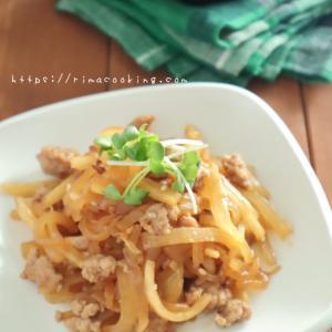 【レシピ】大根とひき肉の金平